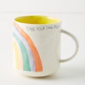 "Anthropologie Positive Vibes Mug ""Magic"" Rainbow"